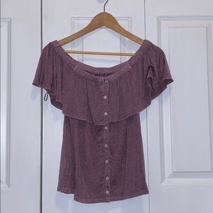 Soft and Sexy American Eagle Off the Shoulder Top